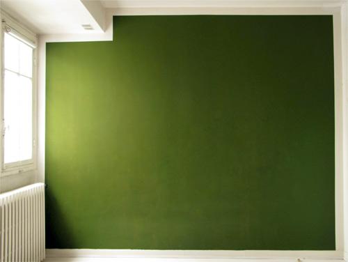V ronique joumard mur tableau vert 2004 for Peinture mur vert
